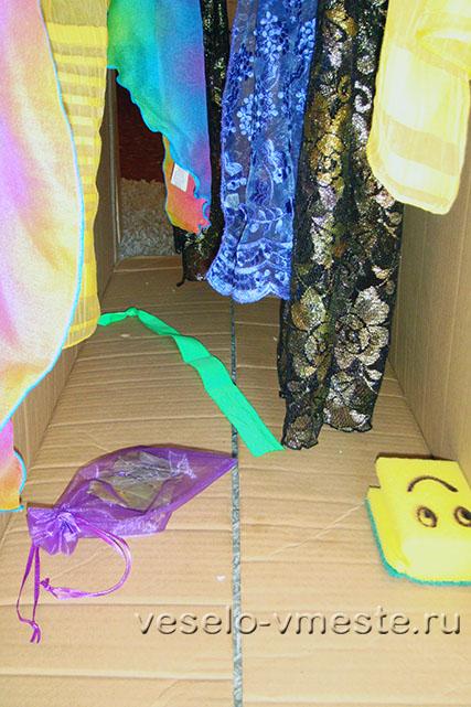 Самодельный игровой туннель из коробки