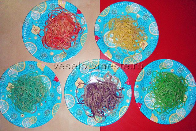 Как покрасить спагетти