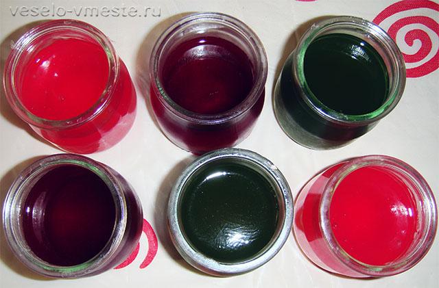 Самодельные пальчиковые краски из желе