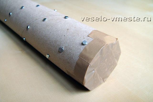 Дождевая флейта из картонной трубки
