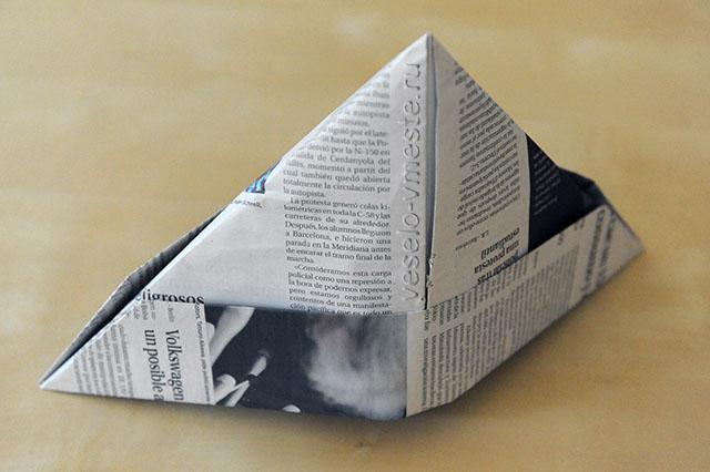 Пилотка из газеты для ребёнка