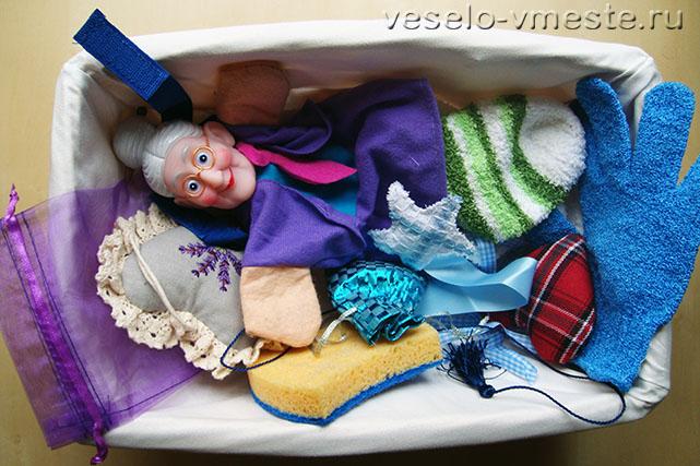 Текстильная развивающая корзинка