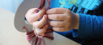 Вязаное сердечко
